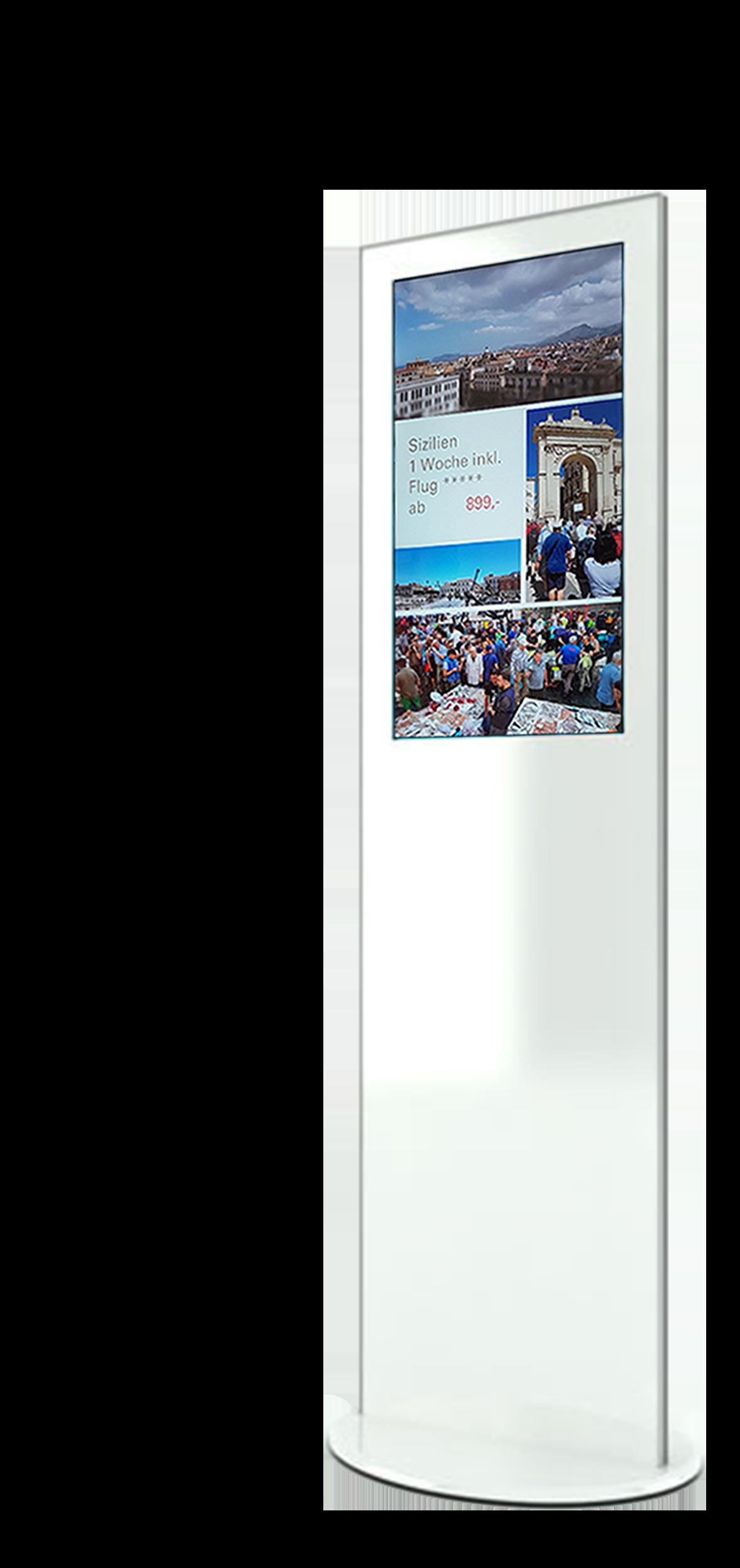 digitales Reisebüro, Display Stele